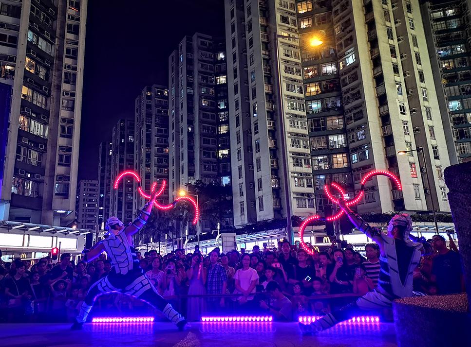 Svetelná šou Anta Agni Hongkong