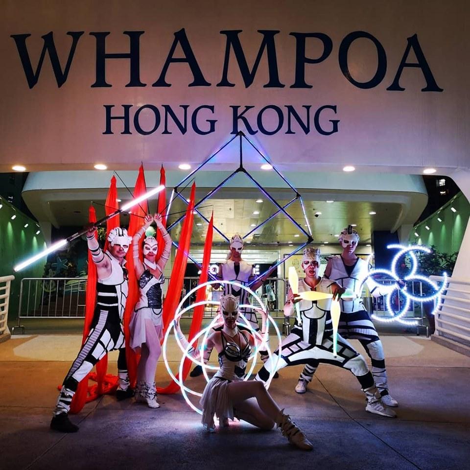 Svetelná šou Anta Agni v Hongkongu