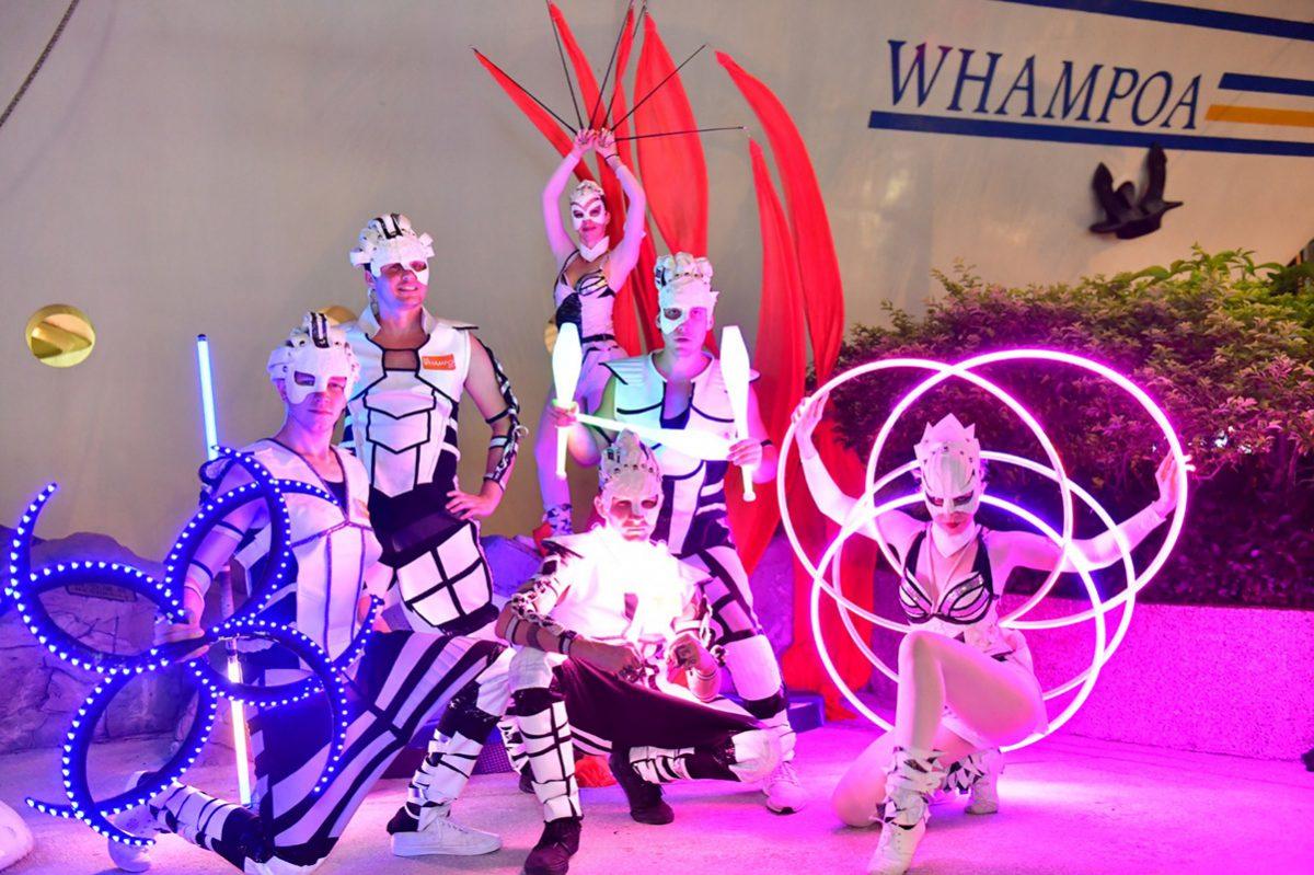 Anta Agni svetelná šou Hongkong skupina